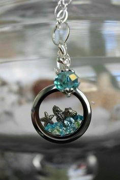 Origami Owl: Necklace, locket, jewelery, sea themed water lover <3   http://LAMayor.origamiowl.com/  to purchase