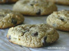 Grain Free Almond Butter Chocolate Chip Cookies