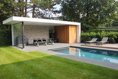 Pergola Over Garage Door Pool House Designs, Backyard Pool Designs, Small Backyard Pools, Swimming Pool Designs, Backyard Landscaping, Pool Gazebo, Pergola Patio, Pergola Plans, Backyard Patio