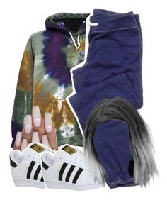"""""""sweats year round"""" by hxfsa ❤ liked on Polyvore featuring adidas"""