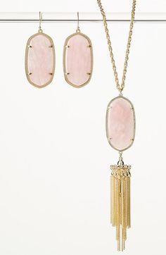 'Rayne' Stone Tassel Pendant Necklace