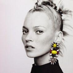 Mohawk Kate moss statement earrings.