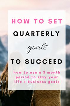 How to set quarterly goals for your life or business. Life goals are as important as business goals, this is how you set them right. Including goal setting planner and goal setting online course! Career Goals, Business Goals, Business Management, Business Planning, Time Management, Business Tips, Life Goals, Business School, Online Business