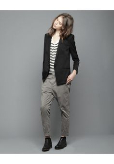 helmut lang | single button blazer - would not look good on me but adore the androgynous styling!