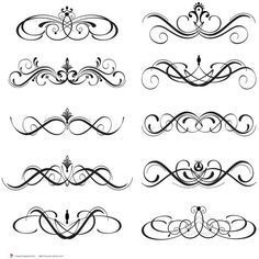 Digital Clipart Clip Art Flourish Swirls Vintage Fleur De Lis Digital... ($3.70) ❤ liked on Polyvore