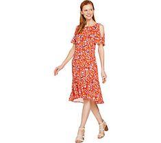 C. Wonder Nantucket Floral Print Cold Shoulder Woven Dress