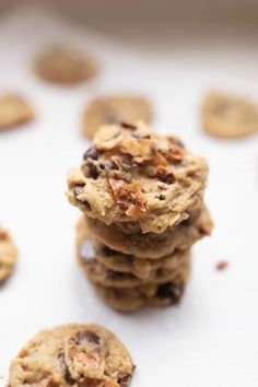 Delicious toasted coconut cookies recipe using einkorn flour are the perfect chewy and buttery cookie. Toasted coconut and chocolate chips make this recipe irresistible.#farmhouseonboone #cookies #christmascookies