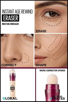 Instant Age Rewind Eraser Dark Circles Treatment Multi-Use Concealer. Maybelline Instant Age Rewind, Dark Circles Treatment, Beauty Uk, Concealer, Ivory, Make Up, Lipstick, Lipsticks, Makeup
