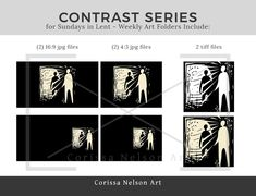Contrast: Lent Sunday Series - Yr A — Corissa Nelson Church Graphic Design, Art Folder, Lent, Cover Design, Worship, How To Draw Hands, Contrast, Sunday, Domingo