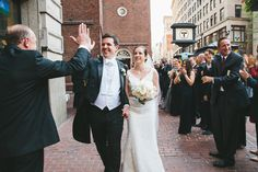 High-fives are always in order when you get married at Old South Meeting House!   Congratulations to Emily and Jorgen! Your spring wedding at Old South Meeting House was perfectly beautiful. Photography: Lindsay Hite www.lindsayhitephotography.com