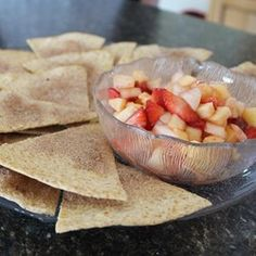 Healthier Annie's Fruit Salsa and Cinnamon Chips More