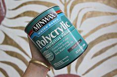 DIY Zebra Rug   Polycrylic