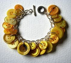 DIY Button Charm Bracelet in any color.