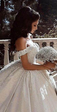 Lace Straps Ball Gown V-neck Long Wedding Dresses Online, Cheap Bridal Dresses, - New ideas Princess Wedding Dresses, Dream Wedding Dresses, Bridal Dresses, Wedding Gowns, Lace Wedding, Princess Bridal, Wedding Veil, Summer Wedding, Quince Dresses