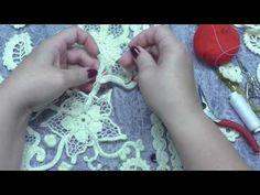 3ч МК Вяжем вместе изделие в технике Ирландского кружева - YouTube