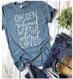 Christian Tshirts Source by modest Shirts & Tops, Mom Shirts, Cute Shirts, Band Shirts, Mama Baby, T Shirt Diy, S Shirt, Halloween Outfits, Mama T Shirt