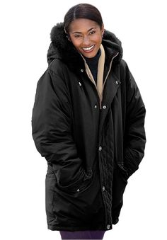 Women's Plus Size Coat, Microfiber Down/Feather Blend Parka -- You can find more details by visiting the image link.