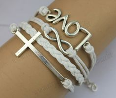 Silver Cross& Love And Infinity Wish Bracelet by themagicbracelet, $4.99