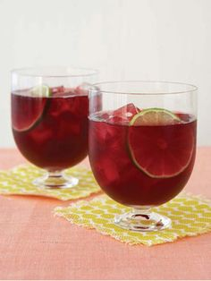 low-cal sangria - fruity and tropical with half the cals of a marg