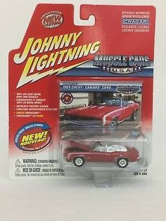 1969 CHEVROLET Camaro SS-Hugger Orange ** RR ** JOHNNY LIGHTNING Muscle 1:64 NUOVO