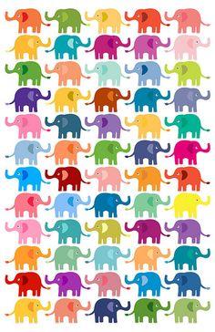 Elephants! iPhone wallpaper