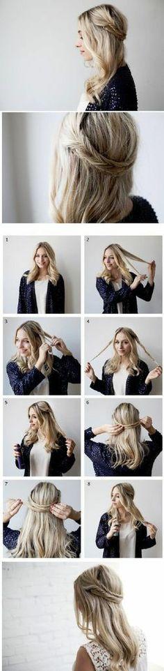 Boho braided hair tutorial