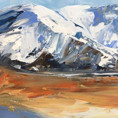 """Jane Sinclair Wanaka Artist on Instagram: """"Not looking to the cold snap forecast this week.working on some paintings on oil paper this week,who knows what colours will flow off my…"""" Living In New Zealand, Flow, Colours, Paintings, Oil, Paper, Artist, Instagram, Paint"""