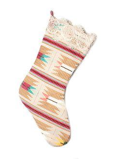 Judith March Aztec Jacquard Christmas Stocking (Neutral Multi) – DejaVu