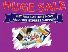 Huge Sale! Get Free Cartons and Free Express Shipping.  For more info link the image :) *Offer Expires July 29th at midnight!#greatdeal #promotion #savingmoney #cheapcigarettes #onlinecigarettes