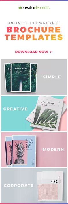 Unlimited Downloads of 2018's Best Brochure Templates