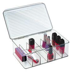 Nail varnish storage box with lid