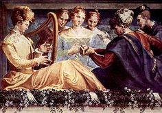 Nicolò dell'Abate: Concerto, 1550, Pinacoteca di Bologna, pos Laura Peverara