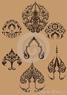Find lotus stock images in HD and millions of other royalty-free stock photos, illustrations and vectors in the Shutterstock collection. Thailand Tattoo, Thailand Art, Lotus Image, Thai Pattern, Thai Art, Lotus Tattoo, Sketch Inspiration, Buddhist Art, Sacred Art