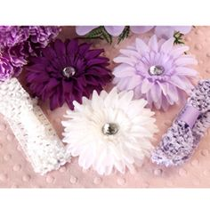 @Overstock - Create new looks for your baby girl with this lavender headband set by Headbandz. Mix and match two soft headbands with three stylish daisies and rhinestones to match her outfits. The accessory is made of a stretchy crochet material for comfort.http://www.overstock.com/Main-Street-Revolution/Headbandz-5-piece-Lavender-Daisy-Headbands-Set/6007102/product.html?CID=214117 $18.49