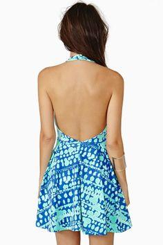 Wave Crush Skater Dress
