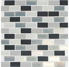 "View the Daltile CK88-21BJPM1P Coastal Keystones Tropical Thunder 2"" x 1"" Brick Joint Blended Porcelain Multi-Surface Mosaic Tile (Special Order) Sheet Size (12"" x 12"") at Build.com."