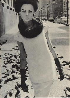 Would love to see AW2015 version of this / Jean Shrimpton, photo by David Bailey, 1960s
