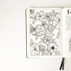 flower illustration | via feebujo