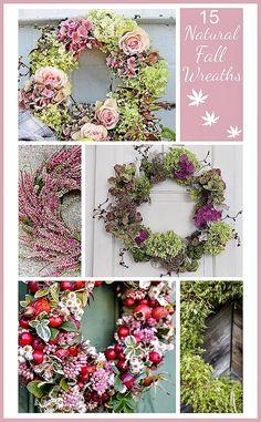 15 Natural Fall Wreaths Ideas