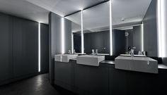#Baño #moderno #decoracion via @planreforma #accesorios #sanitarios #iluminacion #revestimiento #espejos