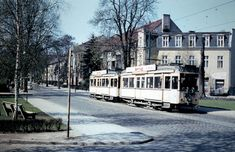 Berlin 1958 Strassenbahn am Viktoriaplatz in Lichterfelde