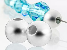 5mm Light Weight Seamless Round Small Hole Bead (Sterling Silver)