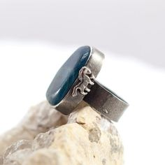 Adjustable Apatite Ring with horse Cocktail Ring by MauraSarabeth, $95.00