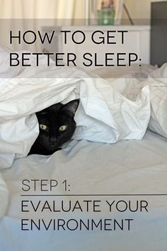 How to Get Better Sleep -- simple tips to help you clear bedroom clutter and sleep better tonight!