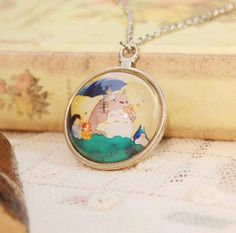 Vintage Silver Totoro Pendant Necklace //Price: $11.00 & FREE Shipping //     #studioghibli