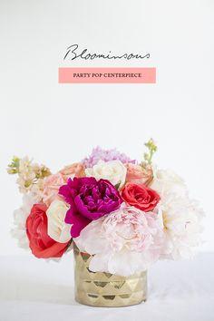 DIY Floral Centerpiece | Photo by Scott Clark Photo | 100 layer cake