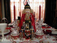 Nutcracker Christmas Tablescape Decor.
