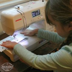 Tiny Sewists: Teaching Kids to Sew :: Lesson 3 | A Jennuine LifeA Jennuine Life