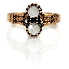 Classic Moonstone Engagement Ring Vintage Engagement Ring