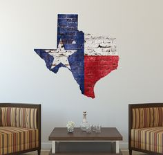"""Texas State Flag Decal (29"""" x 29"""")"""